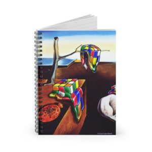 Rubik's Cube Notebook Melting Salvador Dali Cube